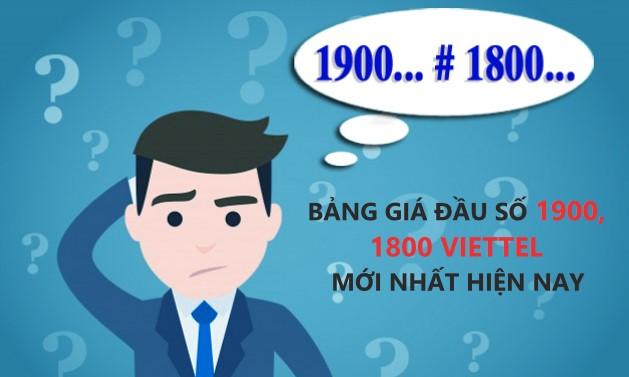 Bảng giá đầu số 1900, 1800 của Viettel mới nhất