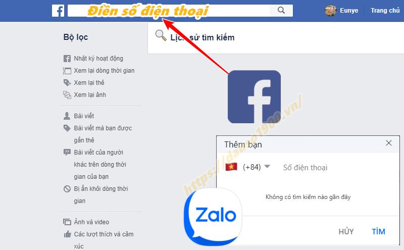 Kiểm trabằng Zalo, Facebook