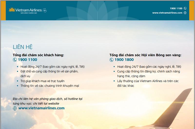 Số điện thoại tổng đài Vietnam Airline: 1900 1100 và 1900 1800