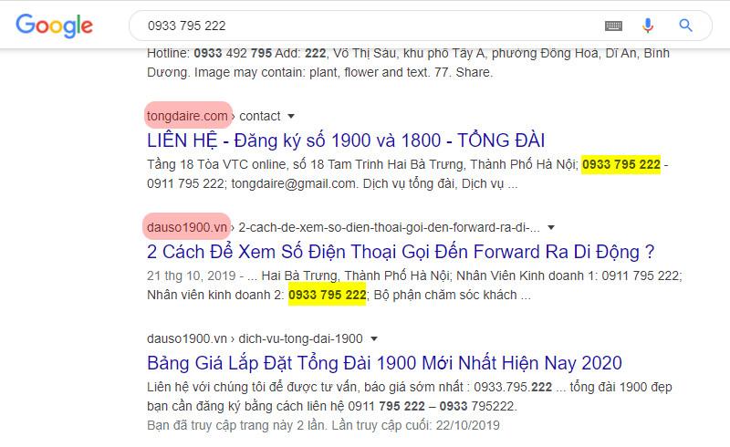 Hướng dẫn sử dụng Google để tra cứu số điện thoại