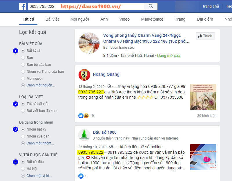 Cách tìm facebook qua số điện thoại bằng facebook.com